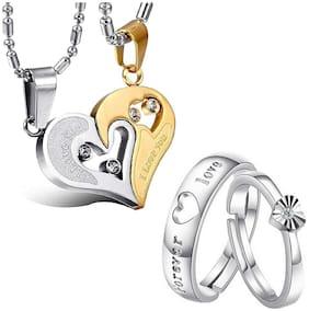 White Pendant & Ring Set