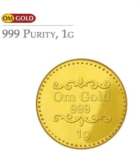 Om Gold Coin 1 g 999 Purity Gold Coin