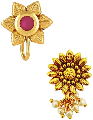 Buy Om Jewells Gold Plated Indo Western Jewellery Combo Of 2