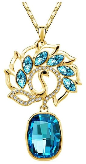 Om Jewells Women Alloy and Crystal Pendant