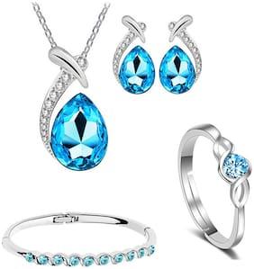 Alloy Blue Antique Pendants With Chain