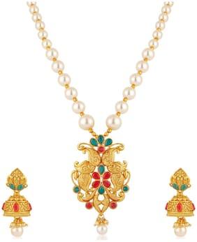 Alloy Gold Kundan Necklace