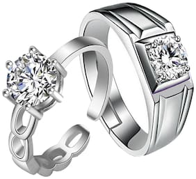 Om Jewells Alloy and Cubic zirconia Finger ring