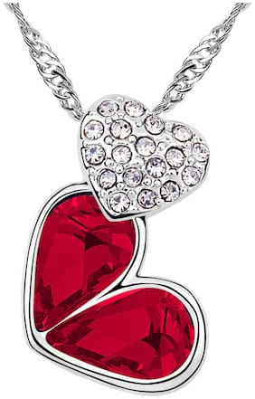 Alloy Red Pendant with Chain