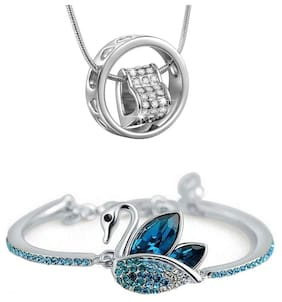 Alloy Blue;Silver Pendant without Chain