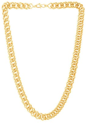 Onnet 1 Gram Gold Plated Patti Ring Chain For Men