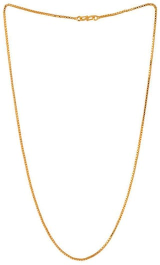 Onnet 1 Gram Gold Plated Thin Box Chain For Men