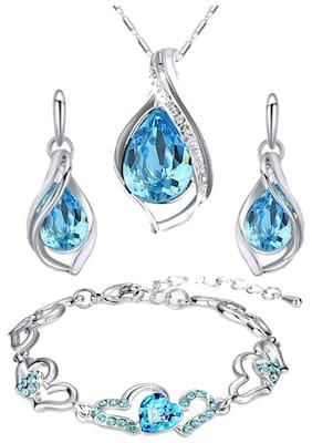 oviya Women Alloy and Crystal Pendant