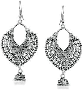 Oviya Oxidised Silver Traditional Antique Dangler Earrings for girls and women ER2109602R