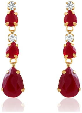 Mahi Gold Plated Charismatic Earrings With Crystal For Women ER2193114G