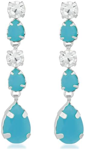 Oviya Christmas Special Exquisite Designer Blue Crystal Earrings for girls and women ER2193746RBlu
