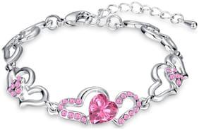 Pink Alloy Link Bracelet