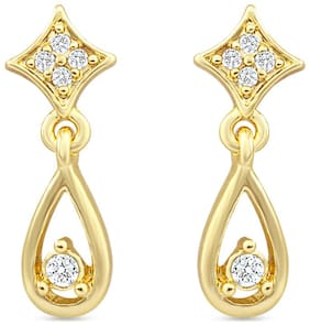 Mahi Gold Plated Magestic Grace Earrings With Crystal For Women ER2193071G
