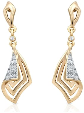 Oviya Gold Plated Glam Destination Earrings With Crystal For Women ER2191027G