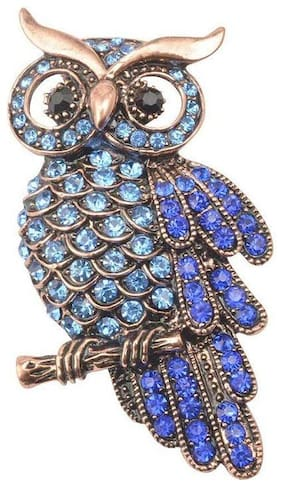 Owl Crystal Brooches Pin Vintage Women-Men Jewelry