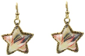 Three Shades Party Wear Stylish Drop Earring for Girls