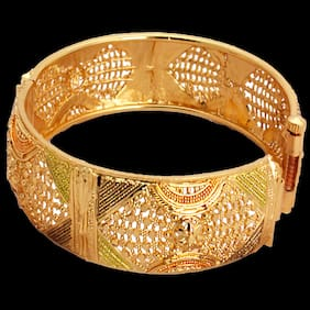 piah Charming Gold Plated Brass  Bangles  For Woman