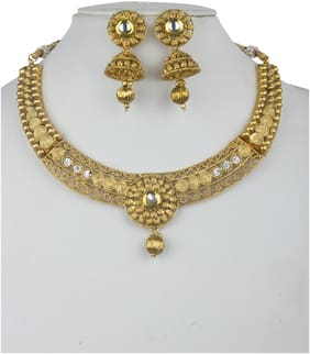 """Piah Fashion Alloy jewellery  set(Gold)"""