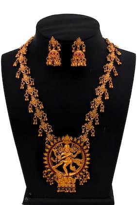 """""""Piah Fashion Admirable Natraj Long Dangling Gugri Artificial Necklace set For Women """""""