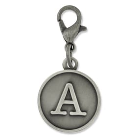 PinMart's Antique Gold and Silver Letter A Alphabet Initial Charm