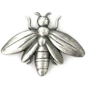 PinMart's Antique Silver Bee Insect Animal Spring Summer Lapel Pin