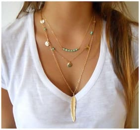 Popmode Floral Layered Bohemian Style Women's Casual Wear Necklace