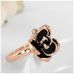 Popmode Black Enamel Ring