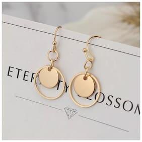 Popmode Minimal Sleek Circle Earrings