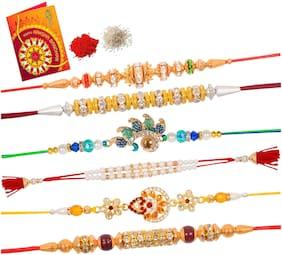 Purvani Set of 6 Rakhi's on this Rakshabandhan