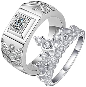 Queen & King Limited Edition Love Valentine Sterling Silver Couple Rings