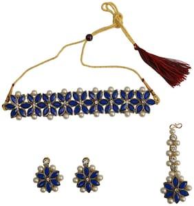 Rabia Taj Pearl Arts Traditional Choker Necklace Set