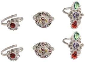 RABIA TAJ PEARL & ARTS Multi Colored Traditional Toe Rings