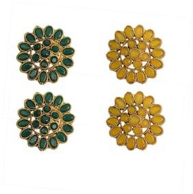 Rabia Taj Pearl designer 2 pairs Stud earrings