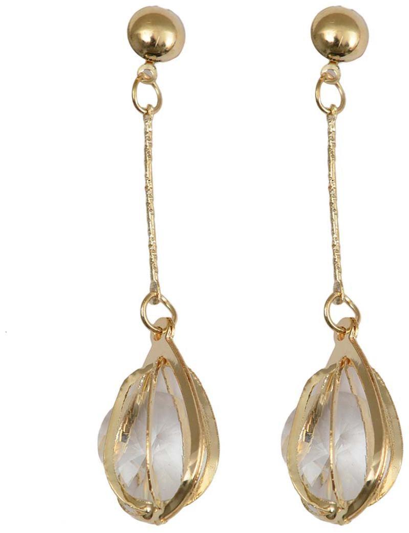 RABIA TAJ PEARL   ARTS Alloy Gold Drop Earring