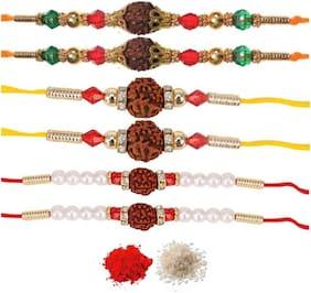 Rakshasutra Set of 6 Rakhi's on this Rakshabandhan