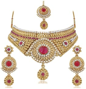 Apara Gold Plated Necklace Set