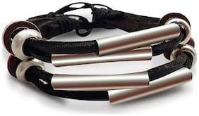 3 String Black and Silver Bracelet for Women