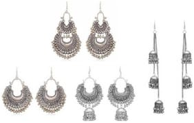 Samridhi DC Combo Pack of 4 Elite Designer Fancy Alloy Women's Earrings