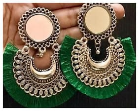 Samridhi DC Divine fashionable green thread party wear earring
