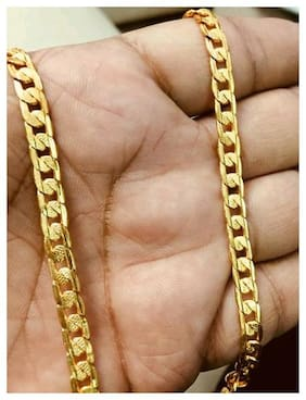 Samridhi DC Divine Fashionable Gold plated chain