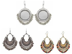 Samridhi DC Pack of 3 Trendy Fashionable Earrings