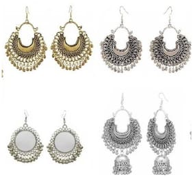 Samridhi DC Combo Pack of 4 Fashionable Unique Fancy Earrings