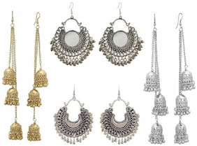 Samridhi DC Combo Pack of 4 Elegant Statement Fashionable Earrings