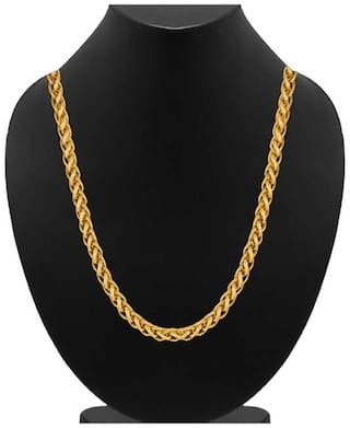 Samridhi DC gold plated brass party wear chain