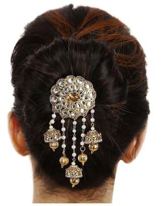 Buy Sanjog Jhumki Style Traditional Bahubali Inspired Wedding Hair