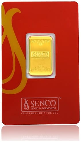 Senco Gold 10 gram, 24k (999.9) Yellow Gold Precious Bar