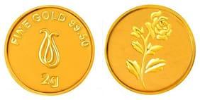 Senco Gold 2 g, 24k (995) Yellow Gold Precious Coin