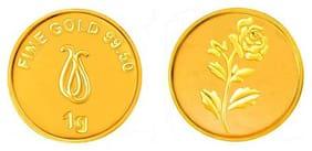 Senco Gold 1 g, 24k (995) Yellow Gold Precious Coin