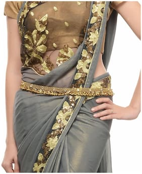 Shining Diva Antique Gold Ethnic Kamarband for Women