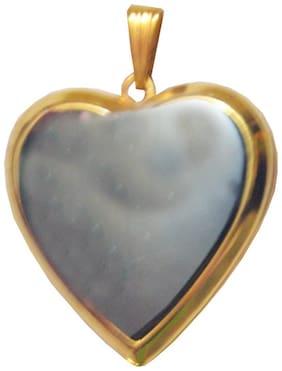 Shiv Jagdamba Gold Heart Pendent